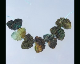 Butterfly Carving Turquoise Beads Strand - 24xx16x4 MM