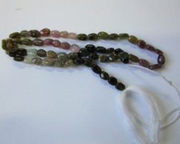 56 CTS  TOURMALINE POLISHED BEAD STRAND AGR709