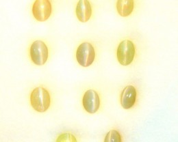 5.36Cts Natural Chrysobery Cat's Eye Unheated Oval Cab Parcel 1$ NR
