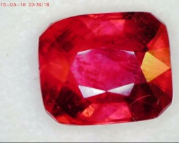 Gorgeous Pinkish Red Cushion Cut Ruby VS2 BB35