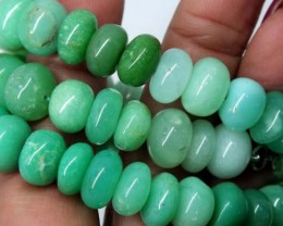 CHRYSOPRASE BEADS 330 CTS   CG-1535