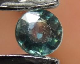 .615ct Blue/Green 5mm round Sapphire