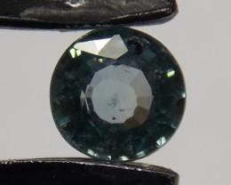 .725ct Blue/Green 5mm round Sapphire