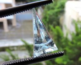 0.80ct BERYL AQUAMARINE LIGHT BLUE FACETED GEMSTONE FROM BRAZIL