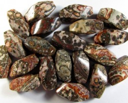 Untreated Ocean Jasper Drilled Beads 20 pieces 300 cts ANA2039