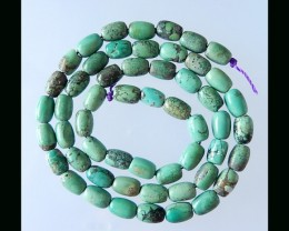Natural Turquoise Loose Beads Strand - 7.5x5 MM