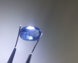 3.87ct Blue Ceylon Sapphire , 100% Natural Untreated Cornflower Blue Color