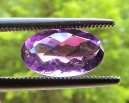 2.20ct OVAL FACETED PURPLE AMETHYST GEMSTONE FROM BRAZIL