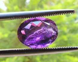 2.70ct OVAL FACETED PURPLE AMETHYST GEMSTONE FROM BRAZIL