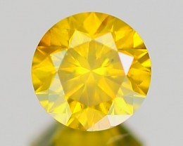 CERTIFIED 0.43ct Brilliant Fancy VS Round Cut YELLOW Natural DIAMOND