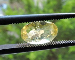 1.30ct OVAL FACETED BERYL HELIODORE GEMSTONE FROM BRAZIL