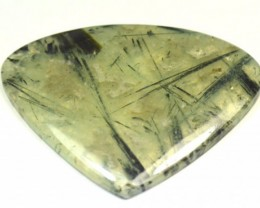 Prehnite cabochon heart shape green large