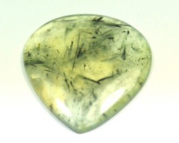 Prehnite cabochon heart drop shape green large