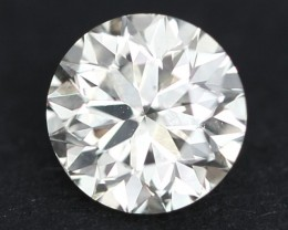 CERTIFIED 0.70Ct Round Cut EYE CLEAN Natural Yellowish White Diamond