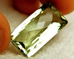 32.75 Carat VVS1 Cushion Cut Prasiolite
