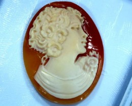 CONCH SHELL CAMEO  21.00 CTS.  CG-1589
