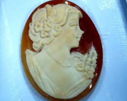 CONCH SHELL CAMEO  21.65 CTS.  CG-1590