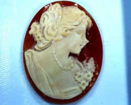 CONCH SHELL CAMEO  21.75 CTS.  CG-1591