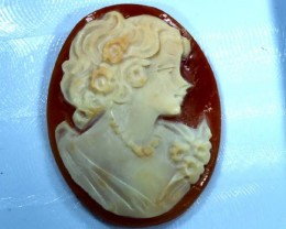 CONCH SHELL CAMEO 20.25  CTS.  CG-1594