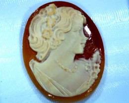 CONCH SHELL CAMEO 19.90  CTS.  CG-1595