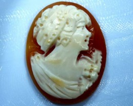 CONCH SHELL CAMEO  12.50 CTS.  CG-1601