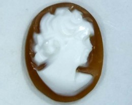 CONCH SHELL CAMEO  1.40 CTS.  CG-1604