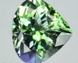 Certified! 2.37Cts Rare Green Unheated Natural Tanzanite Heart 1$ NR