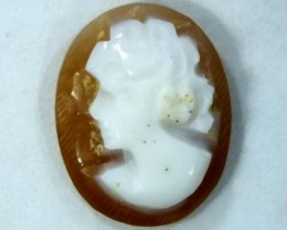 CONCH SHELL CAMEO  1.70 CTS.  CG-1615