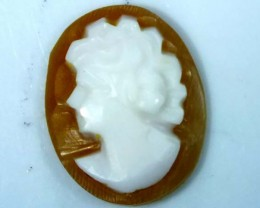 CONCH SHELL CAMEO  1.75 CTS.  CG-1637