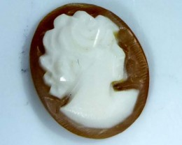 CONCH SHELL CAMEO  1.75 CTS.  CG-1649