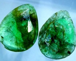 EMERALD PAIR 7.35 CTS BG-180