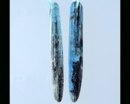 Natural Blue Kyanite Earring Bead - 44x5x4 MM