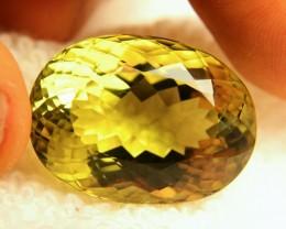 47.50 Carat VVS1 Greenish Yellow Natural Quartz - Lovely