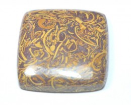 Square cushion GOLD LEAF Agate cabochon