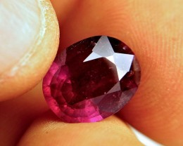 6.46 Carat Fiery Purplish Red VS2 Ruby - Superb