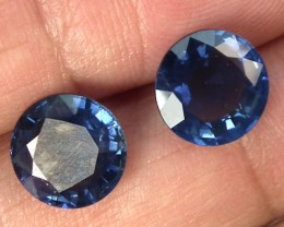 BLUE PAIR SAPPHIRE 6.41  CTS  SUS