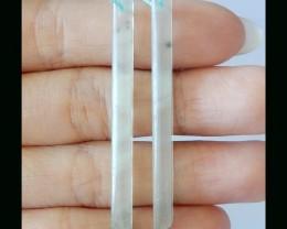 Big Promotion! Natural Long Prehnite Earring bead - 50x4 MM,Fashion Charm E