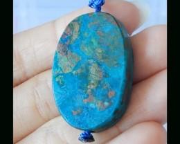 Natural Bue Opal Freeform Pendant Bead - 32x22x7 MM