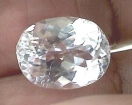Gorgeous 9.95ct Colorless - Faint Pink Oval Cut Kunzite VVS THM31