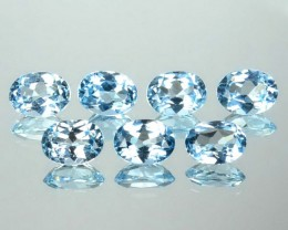 10.73Cts Natural South American Blue Topaz Oval 8X6mm Calibrated Parcel 1$