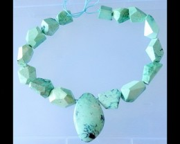 Natural Stone Freefrom Necklace Bead ,Design Jewelry -
