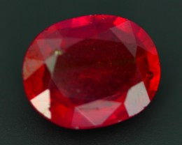 7.79ct NICE Natural Cherry Red Oval Cut Madagascar Faceted Ruby
