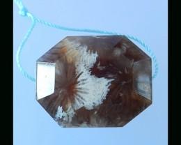 Beautiful New Series, Black Coral Fossil Pendant Bead - 29x23x11 MM
