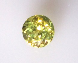 1.29cts Natural Australian Greenish Yellow Parti Sapphire Round Cut