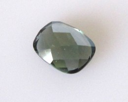 0.92cts Natural Australian Sapphire Cushion Checker Board Cut