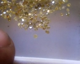 NATURAL YELLOW DIAMONDLOT-1-1.5MMSIZEMIXLOT-2CTWLOT-NR