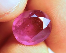 9.92 Carat Fiery Pinkish Red Ruby - Gorgeous