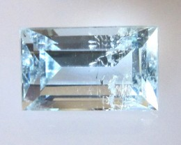 1.97cts Natural Aquamarine Baguette Cut