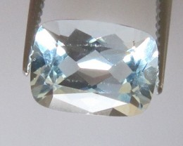 1.24cts Natural Aquamarine Cushion Cut