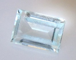 1.20cts Natural Aquamarine Baguette Cut